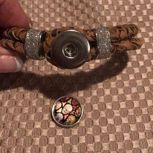 Jewelry - Brown rope 1 snap bracelet- NEW!